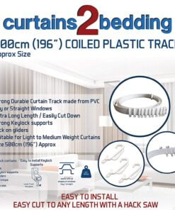 Curtains2bedding Coiled Plastic Curtain Track