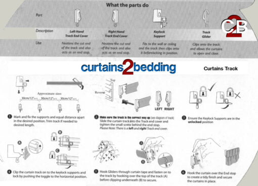 Curtains2bedding Curtain Track Fitting Instructions