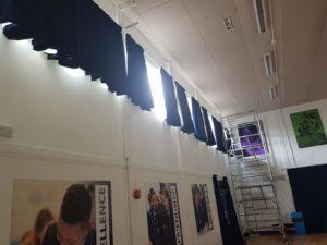 High Up School Hall Curtains