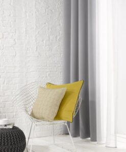 Grey Plain Flame Retardant Curtains