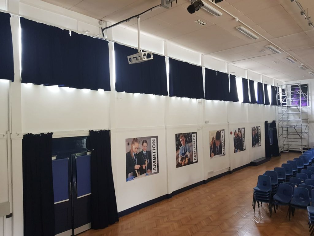 School Assembly Hall Curtains
