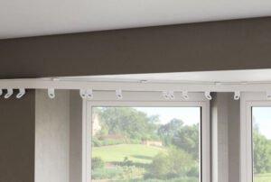 Internal Bend Bay Window Curtain Track